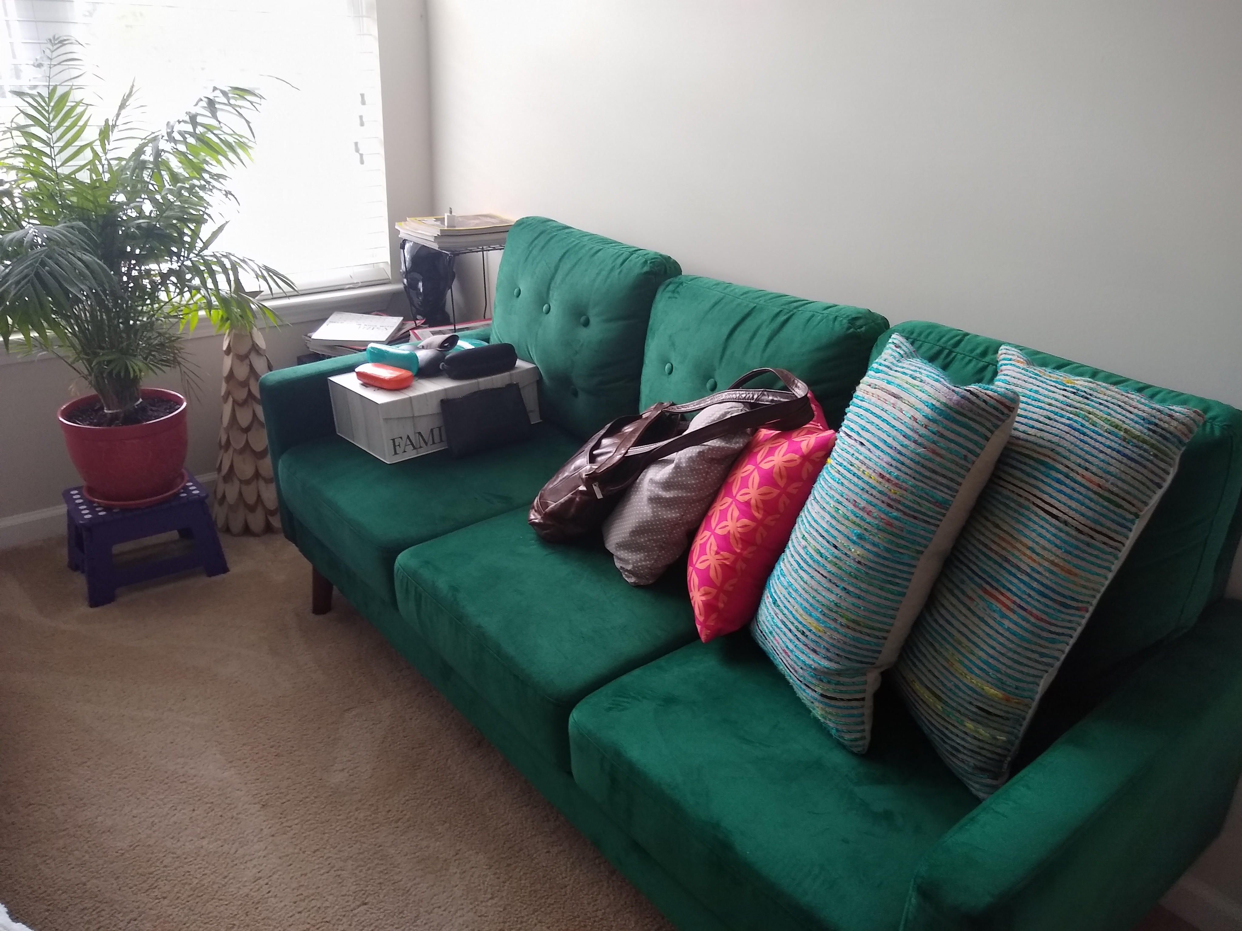 Decluttered home_couch